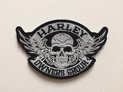 Harley Owners Group Small skull Iron on/ Sew on Patch HOG Biker Motorcycle