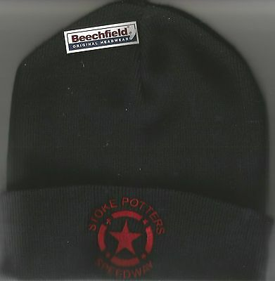 2017 Stoke Potters Speedway Black Beanies With Logo