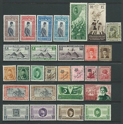 2 scans of collection of mounted MINT Egypt stamps.