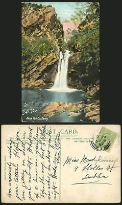 Ireland 1907 Old Postcard NESS FALL - Derry LONDONDERRY