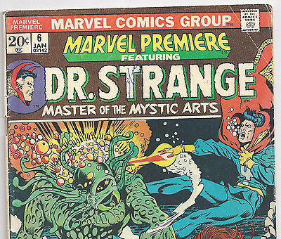 MARVEL PREMIERE #6 featuring Dr. Strange from Jan 1973 in VG- condition