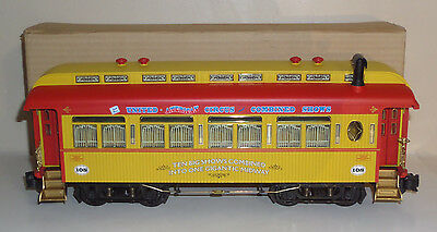 Aristocraft G-Scale 108 United American Circus Passenger Coach Car Boxed