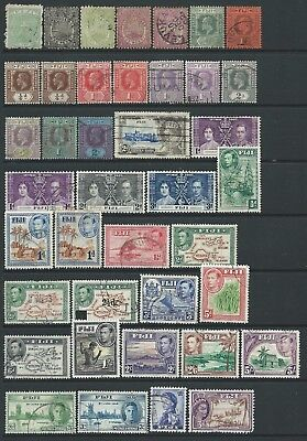 Collection of Fiji stamps.