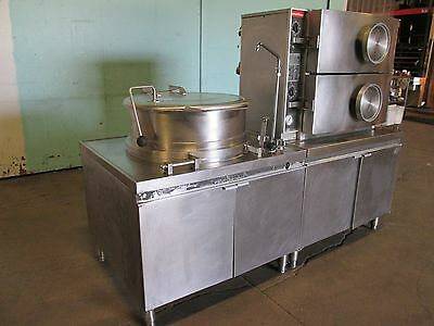"""""""MARKET FORGE"""" COMMERCIAL HD 480v, 3Ph. ELECTRIC STEAMER OVEN/40gal STEAM KETTLE"""