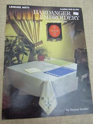 Vintage INTRO to HARDANGER EMBROIDERY Marion Scoular Book Patterns Leaflet