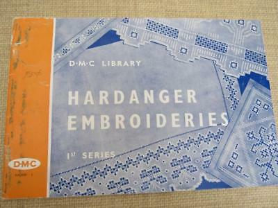 Vintage 1963 HARDANGER EMBROIDERIES 1st Series DMC Library How To Book Patterns