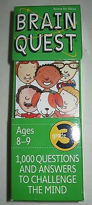 Brain Quest Grade 3 2 Flash Card Decks 4th Ed 1000 Questions and Answers Age 8-9