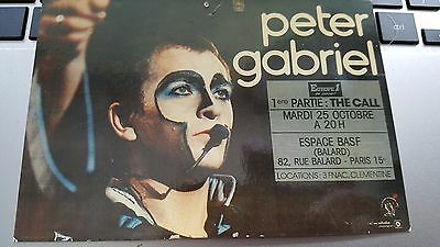 """Peter Gabriel  """"french Tour Postcard"""" At A Nice Price!"""