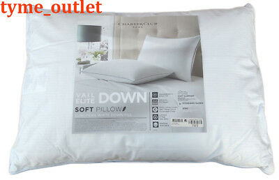 Charter Club Pillow Vail Elite STD / QUEEN Goose Down SOFT Support