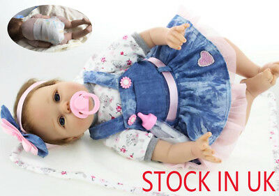 "Bambole 22"" Hot Sale Lifelike Silicone Reborn Baby Doll Baby Child Xmas Gift"