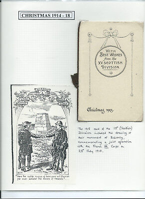 WW1 15th (Scottish) Division Folding Xmas Card 1918