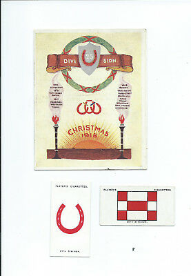 WW1 25th Division Folding Xmas Card 1918