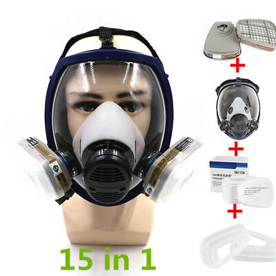 Large Full Face Gas Dusk Mask for 6800 Respirator Painting Spraying Filter