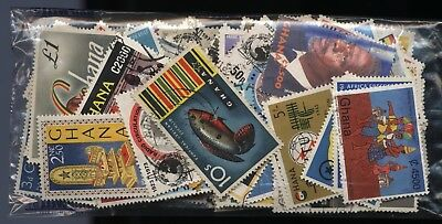 Ghana Bag 150 Stamps (Inc Sets) Mounted Mint + Used