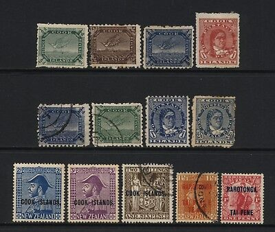 Cook Islands Collection Early Stamps (Inc Ovprts) Used / Unused Mounted