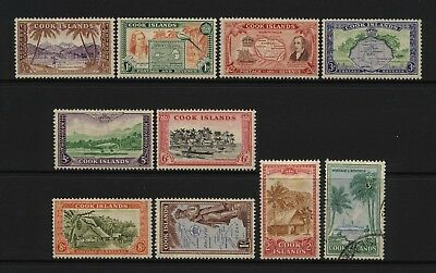Cook Islands 1949 Multi Design Values Mounted Mint + Used