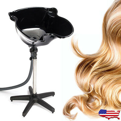 Portable Shampoo Bowl Deep Basin Height Adjustable Hair Wash Salon Spa Treatment
