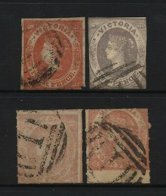 Australian States Victoria 4 Early QV Stamps Used