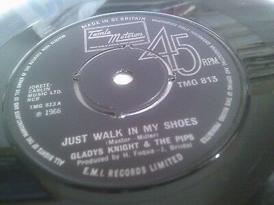 Gladys Knight & The Pips Just Walk In My Shoes A-1/B-2 1972 UK Tamla TMG 813
