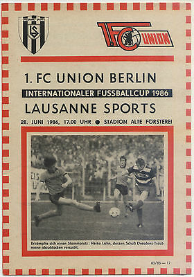 IFC 28.06.1986 1. FC Union Berlin - Lausanne Sports, InterToto Cup