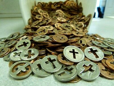 1200 Cut Out Cross Pennies and coins