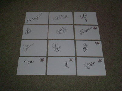 Barnsley - Nice Collection Of 12 Signed 6 X 4 White Cards
