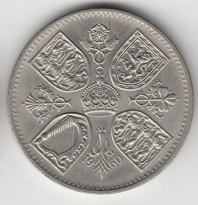 Gb New York Exhibition Crown 1960 Ef+          34Z               By Coinmountain