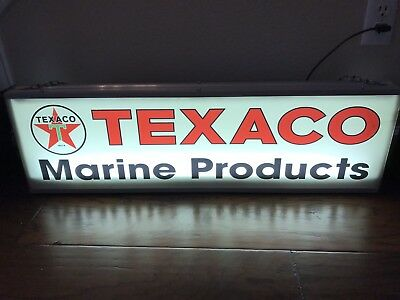 Texaco Marine Products Lighted Sign