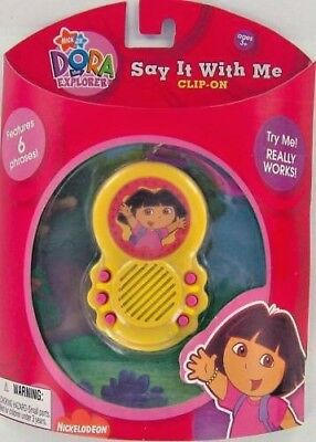 DORA Explorer English & Spanish Talking Clip-On Bilingual 6 Phrases NEW Retired