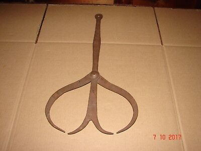 "Large 20 1/2"" Antique Hand Forged Wrought Iron Double Calipers"