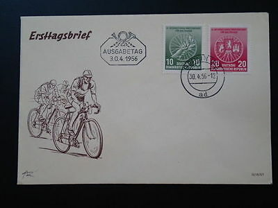 bicycle cycling 1956 FDC postmark Berlin Germany 67043