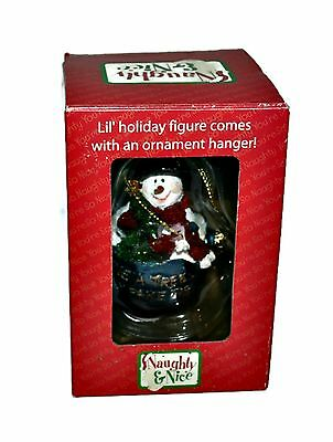 BOYDS Collection Naughty & Nice Snowman 2004 Christmas Ornament Douglas #25508
