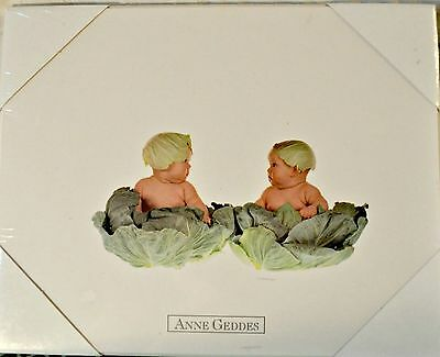 "1991 ANNE GEDDES Cabbage Babies 8""x10"" Print Ready to Hang Sealed Picture Baby"