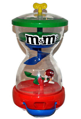 M&M's Mars Gumball Machine Teeter-Totter Swinging Red M Candy Dispenser EUC