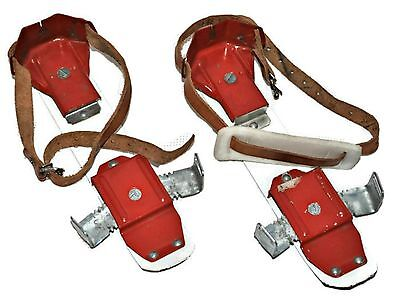 Vintage Kids Strap On Ice Skates Made in East Germany Skating Collectible Decor
