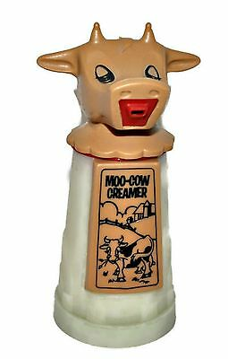 Vintage Whirley Industries Moo Cow Creamer Plastic Container Made in USA EUC
