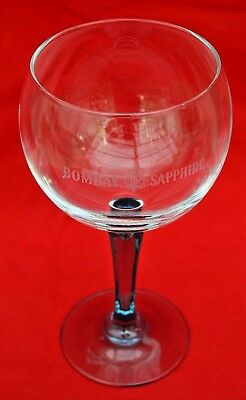 Bombay Sapphire:   Gin Crystal Balloon Glass - Etched  - Perfect Condition!