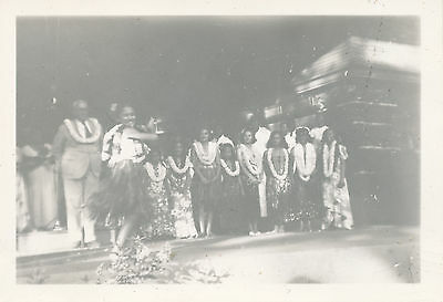 WWII 1942 Hula Girl dancing, hula show Hawaii Photo