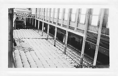1936  sugar mill inside, bags of sugar, Hawaii Photo