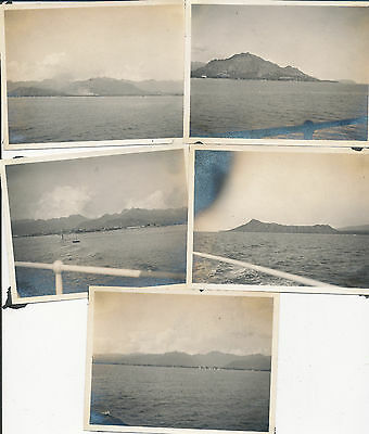 1916 Hawaii 5 Photos  Koko Head,  Honolulu Harbor, Diamond Head
