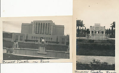 1920s  Mormon Temple, Laie,  2  Hawaii Photos