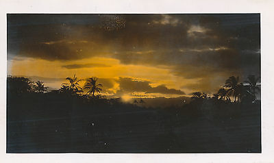1930s Hawaiian Sunset  Hand Colored Hawaii Photo #4