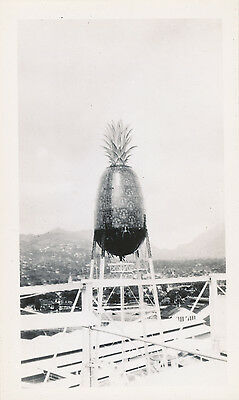 1930s Hawaii Photo Dole Pineapple shaped water tower, Honolulu factory