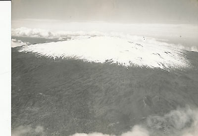 1920s Aerial Mauna Kea Volcano, snowcapped Large 7x9 Hawaii Photo No 2 by USAAC