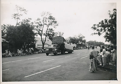 1945 Aloha Week Parade, front of Queens float,  Hawaii Photo