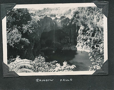 1930s Rainbow Falls, During Drought, little water,  Hilo, Hawaii