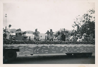 1945 Aloha Week Parade, Hula Girls on  float,  Hawaii Photo