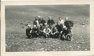WWII 1940s US Sailors at Haleakala Volcano inside crater Maui Hawaii Photo
