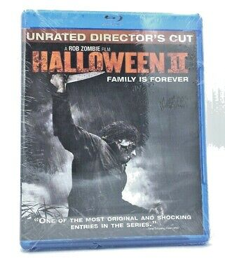 Halloween II (Blu-ray Disc, 2010, Unrated Director's Cut) NEW; a Rob Zombie film