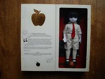 "THE LITTLE APPLE DOLLS: BOXED ""UMBRAE"" DOLL by PLAYGROUNDMANICS: MISSING MASK."